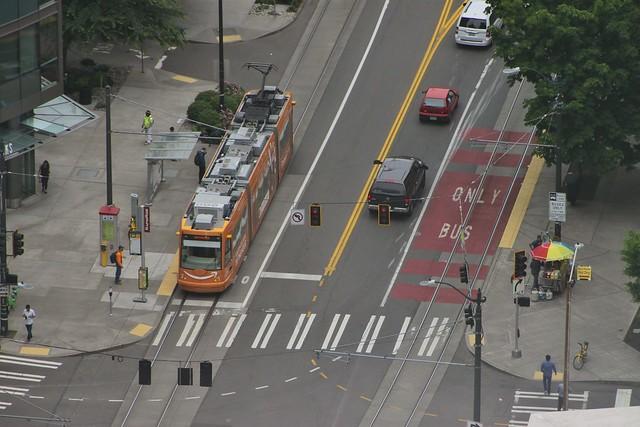 Westlake transit lanes