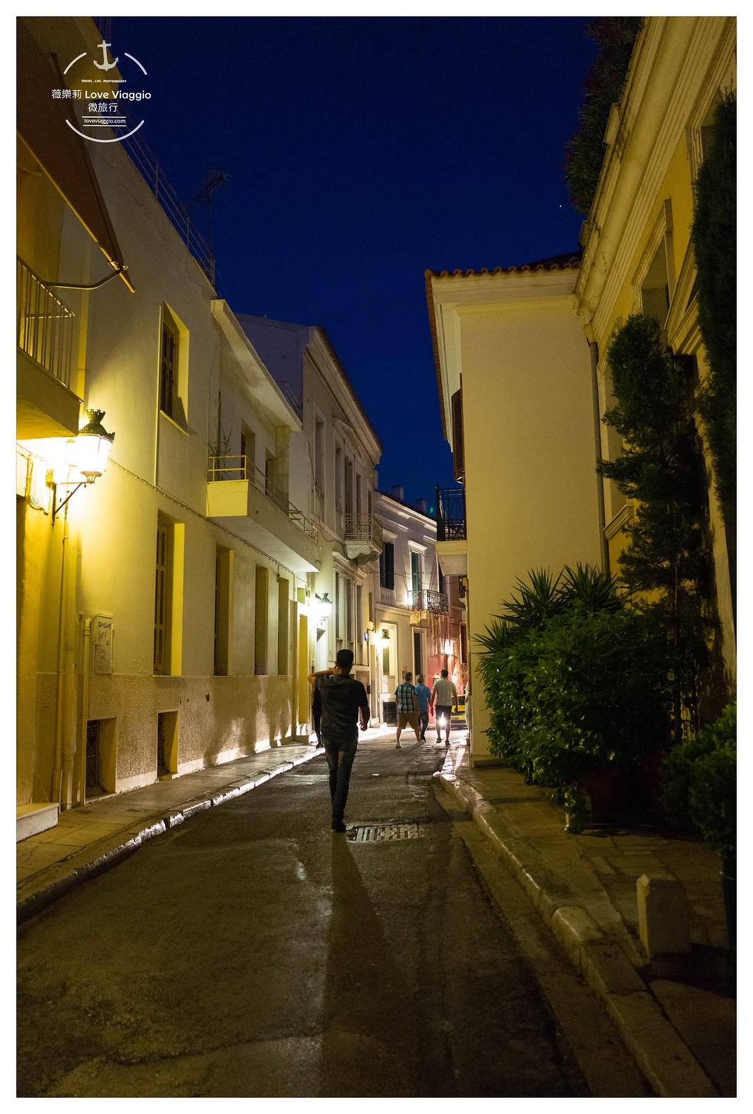 【希臘 Greece】普拉卡舊城區 慢步雅典色彩豐富活潑的古城鎮和衛城夜景 @薇樂莉 Love Viaggio | 旅行.生活.攝影