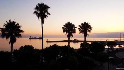 jaapcom sunset sun kos island trees greece zon cloud summer