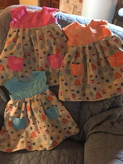 Dresses for Mia, Lilith and Edith