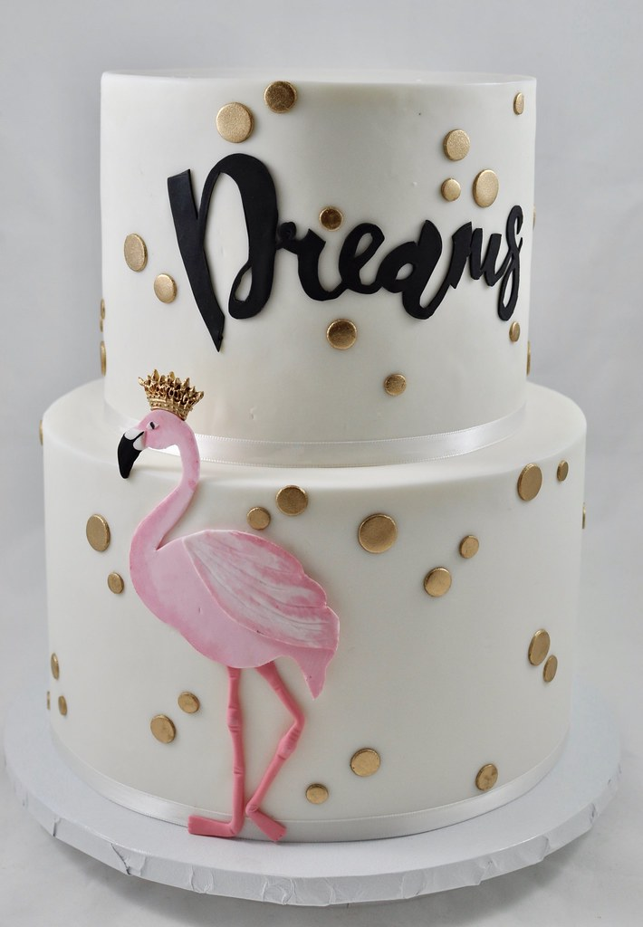 Sensational Flamingo Birthday Cake Jenny Wenny Flickr Personalised Birthday Cards Veneteletsinfo