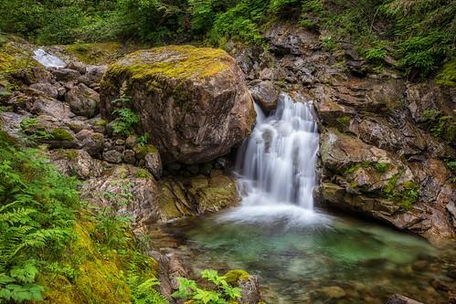 waterfall boulderfalls hallcreektrail hallcreek boulder cliff