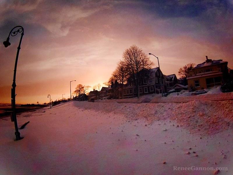 Lynnway Snow Sunset