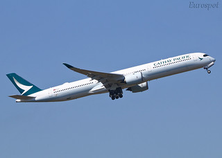 F-WZGS Airbus A350 Cathay Pacific | by @Eurospot