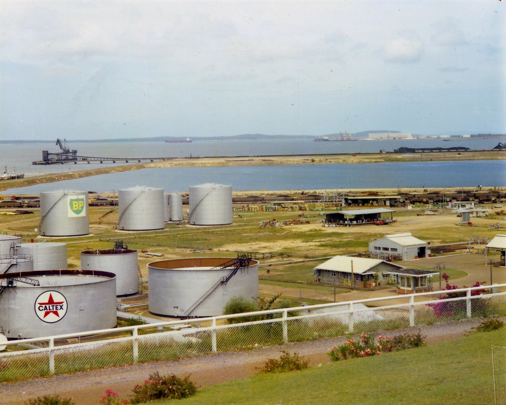 Caltex oil storage tanks in the Gladstone Harbour area, No