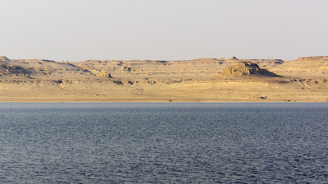 The other side of Egypt's Lake Qaron in Fayoum
