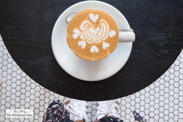 My latte, looking down