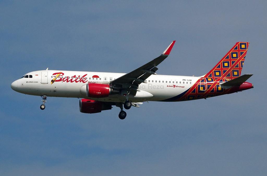 Batik Air Airbus A320-200 PK-LUI / CGK