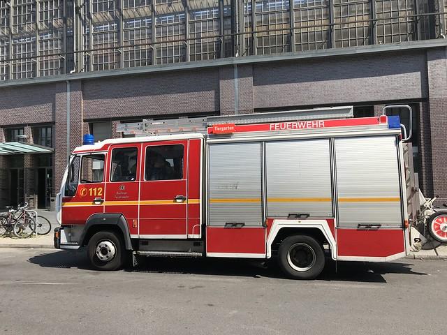Feuerwehr Berliner - Berlin Fire Brigade - Bahnhof Friedrichstraße, Berlin