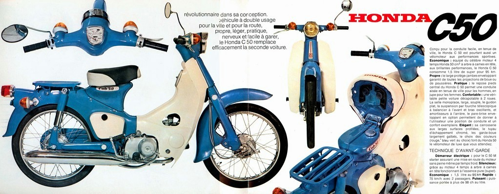 Honda C50 Brochure France Early 1970s French Spec Cubs A Flickr