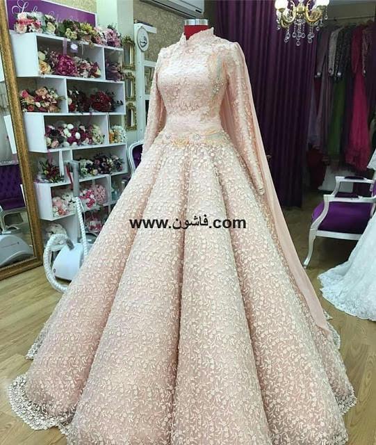 3a481602100c4 ... فساتين زفاف جديده محجبات 2018
