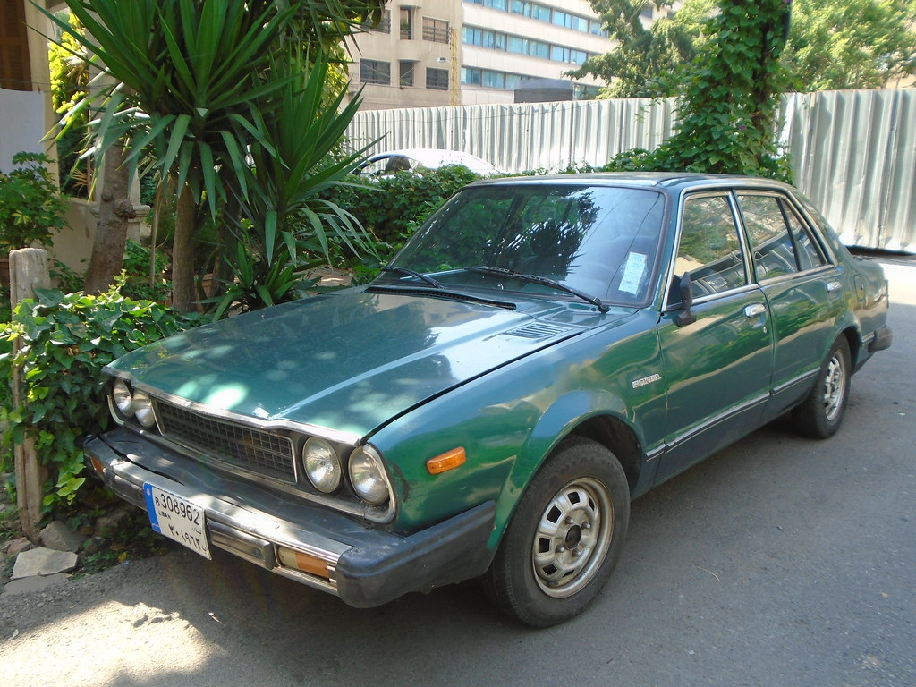 1978 Honda Accord   Green! Love it. Albeit with those ...