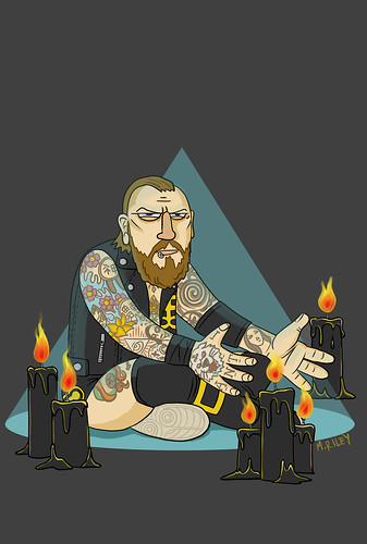Aleister Black | by Mike Riley