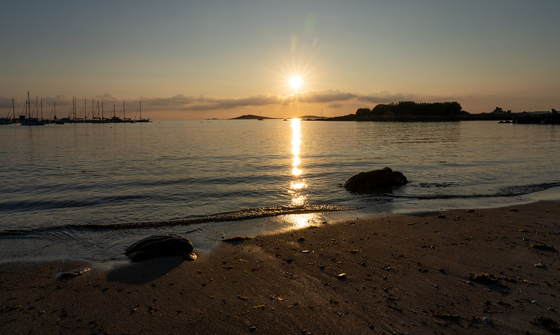 Sunset from Porth Thomas