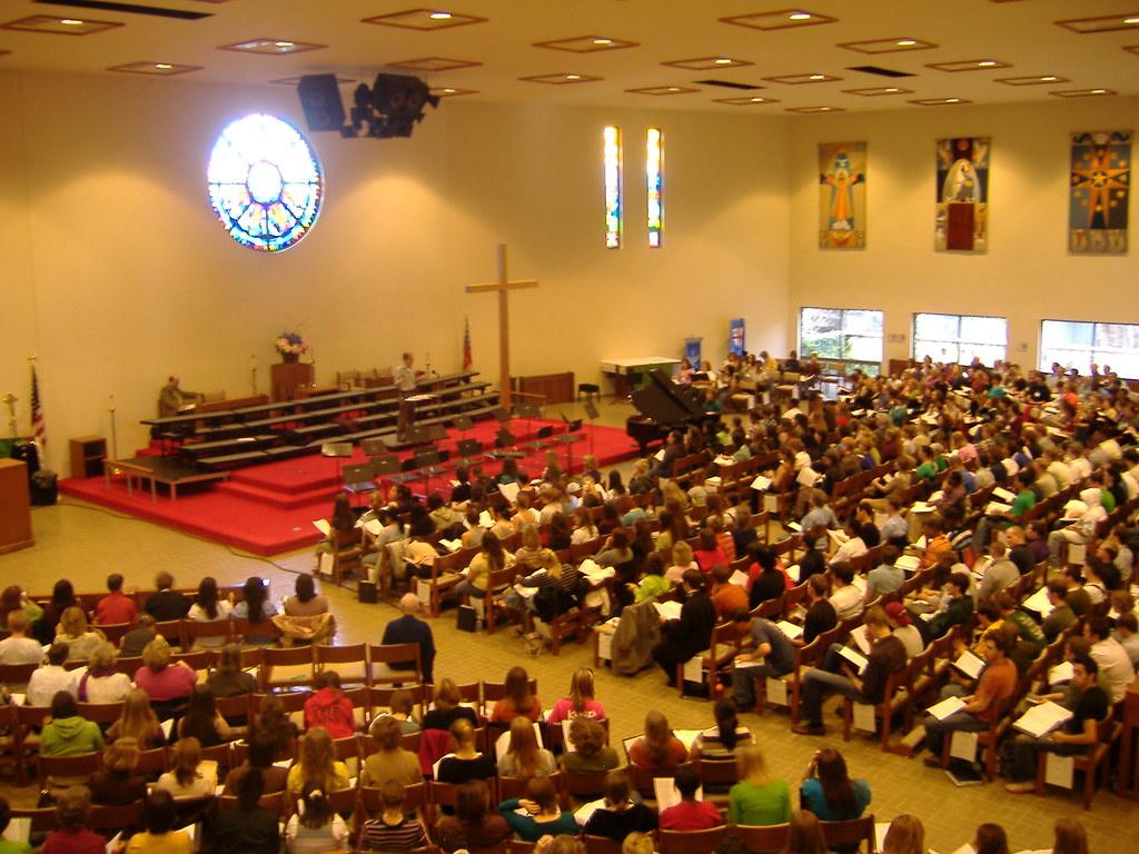 mass choir   This is a choir rehearsal in Austin, Texas ...
