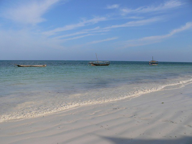 high tide, Bwejuu, Zanzibar