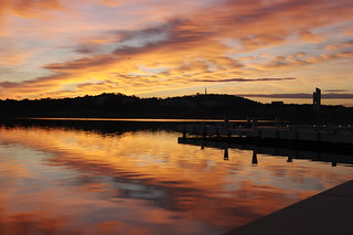 Sunrise over Lake Burkley Griffin | by Tegan, not Teegan