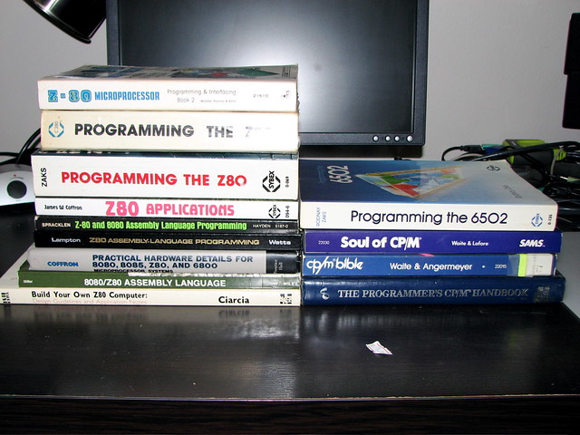 Z80 and CP/M Books | My Z80 and CP/M books as of March 23, 2