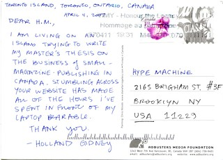 Hype Machine <3 Postcard 2 | by sights set