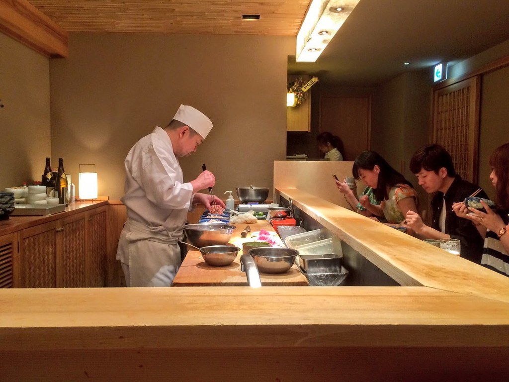 Raw seafood dinner - Tokyo