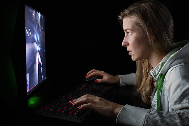 Gamer girl playing first person shooter game - Credit to h… | Flickr