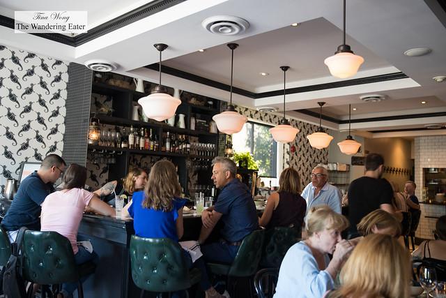 Interior at the bar