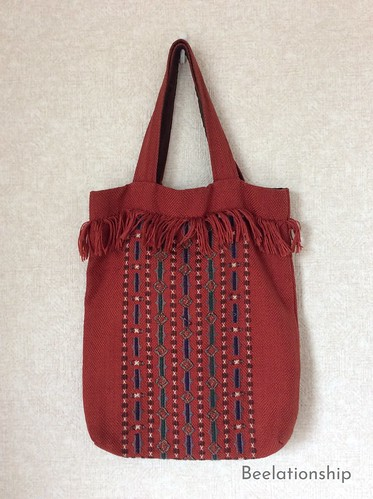 African Motif Fringed Tote Bag 001 | by Beelationship Embroidery Studio