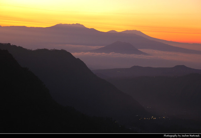 Sunrise seen from Mount Penanjakan, Bromo-Tengger-Semeru NP, Java, Indonesia