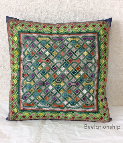 Celtic Knot Cushion | by Beelationship Embroidery Studio