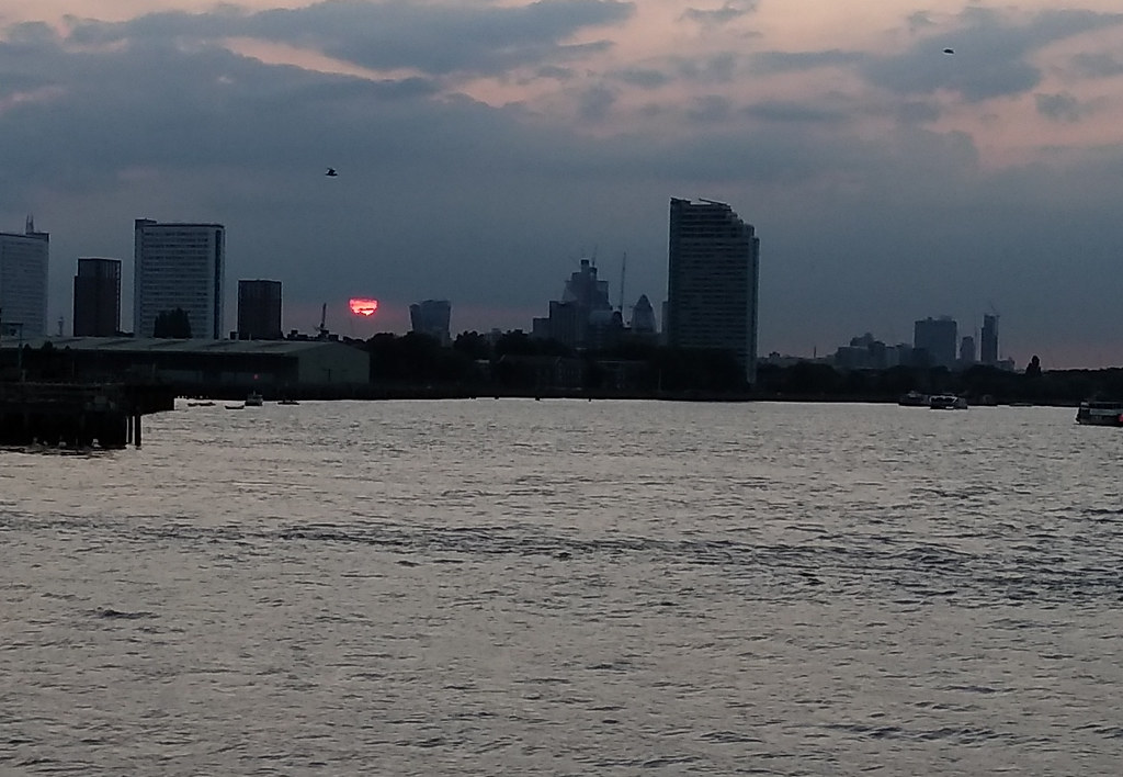 sunset City of London from Greenwich