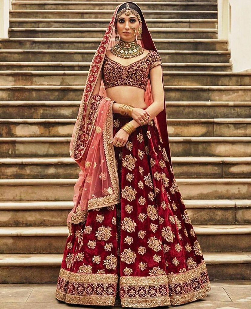 9109 Maroon Designer Traditional Wedding Lehenga Party Wea Flickr,Wedding Royal Blue And Gold Bridesmaid Dresses