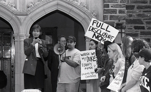 Students Against Sweatshops Demonstration, December 4, 1998 | by Duke University Archives