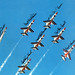 """Thunderbirds T-38A """"Talon"""" aircraft fly in formation in this autographed picture dateing back to 1977."""