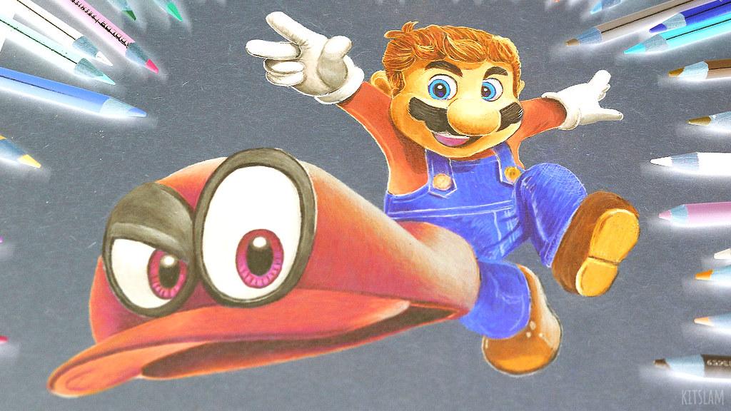 Mario Odyssey Pencil Color Drawing Mario Odyssey Drawn Wit Flickr
