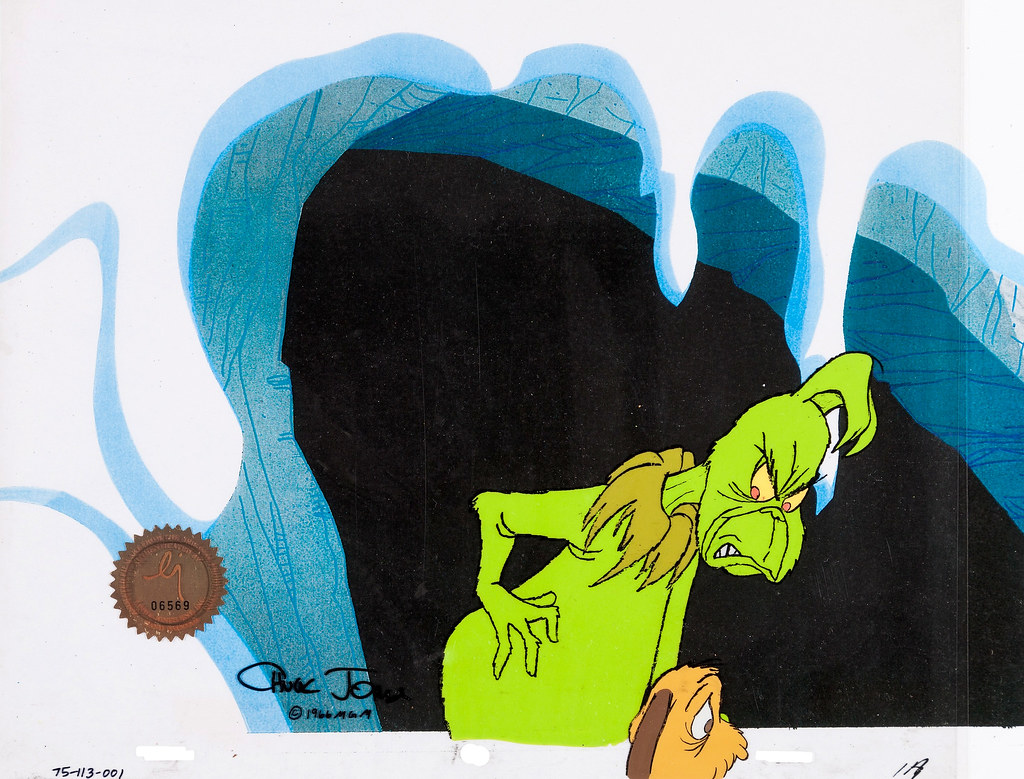 How The Grinch Stole Christmas 1966 Max.The Grinch And Max Animation Cel From Dr Seuss How The G