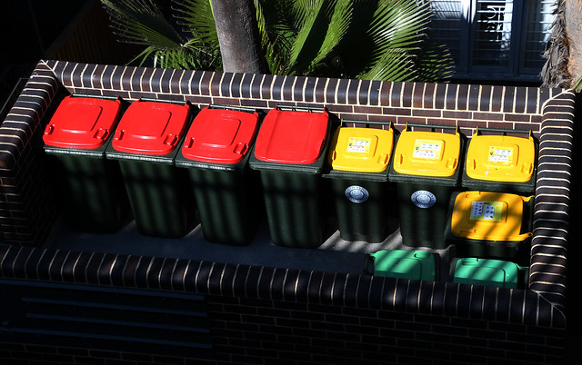 Wheelie Bins, Lavender Bay, Sydney, NSW.