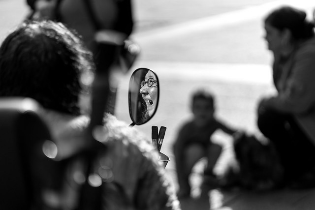 A smile in the rearview mirror