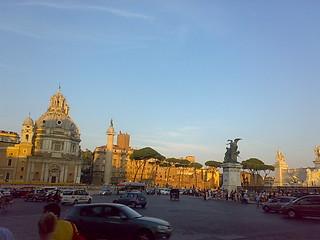 The church of Santa Maria di Loreto and the Trajan's Column