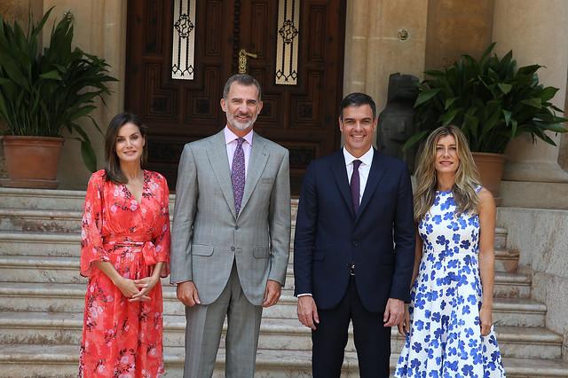 El presidente despacha con el Rey en Marivent (06/08/2018)