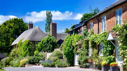 landscape village cottage countryside