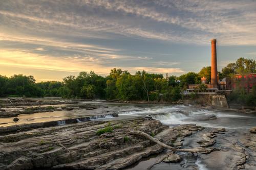 sunrise vermont winooski falls waterfall winooskifalls winooskivermont sun vt