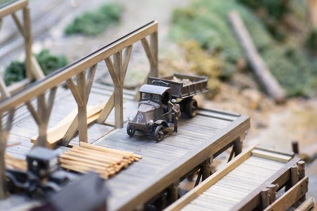 Tiny antique dump truck
