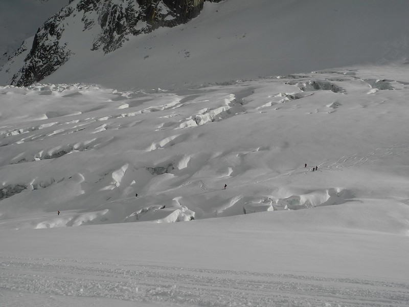 """The """"normal"""" VB. I've heard the VB described as """"a red run"""" but it's an off piste itinerary with crevasses in many places. You need an ability to ski accurately and efficiently in a wide variety of snow conditions."""