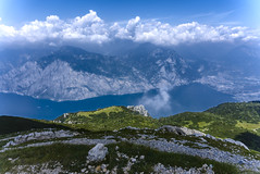 Garda lake from monte Altissimo (post-processing experiment)