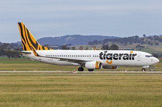 Tigerair Australia (VH-VOR) Boeing 737-8FE(WL) at Wagga Wagga Airport (1)   by Bidgee