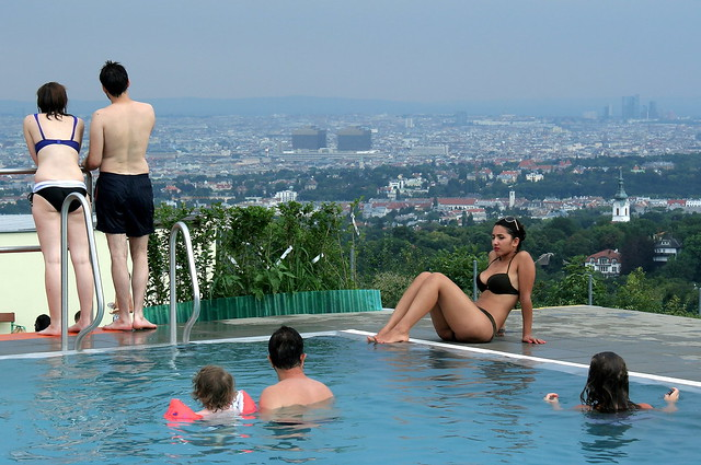 A Very Beautiful View in the Krapfenwaldbad in Vienna
