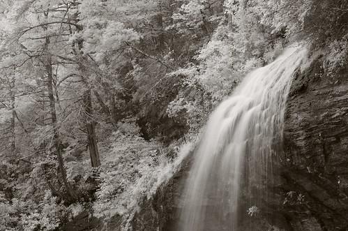 westernnorthcarolina cullasajariver nantahalanationalforest waterfall pentax k5 infrared smcpentax11855mm iridientdeveloper