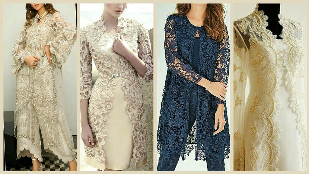 cb952f2abba ... Top Stylish   Classy Party Wear Gown Style Open Shirt Designs -Latest Open  Shirts Designs