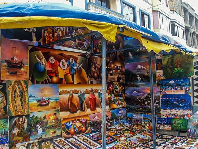 Pinturas en Otavalo