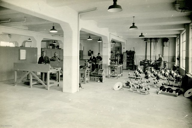 Fitters Shop, Electricity Department Head Office, Cumberland Street, 1940